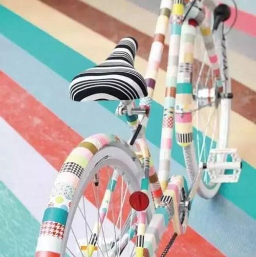 washi tape decoration - bicycle