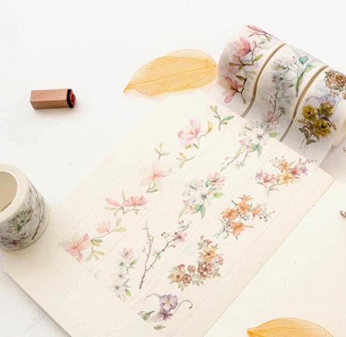 Spring flower paper tape