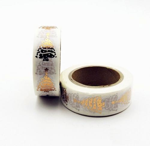 Golden Christmas Tree Masking Tape
