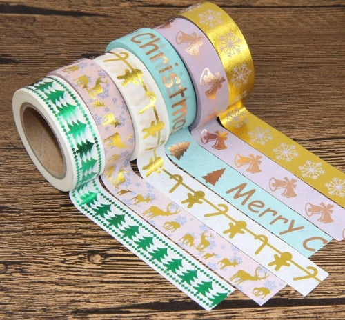 Christmas paper tape