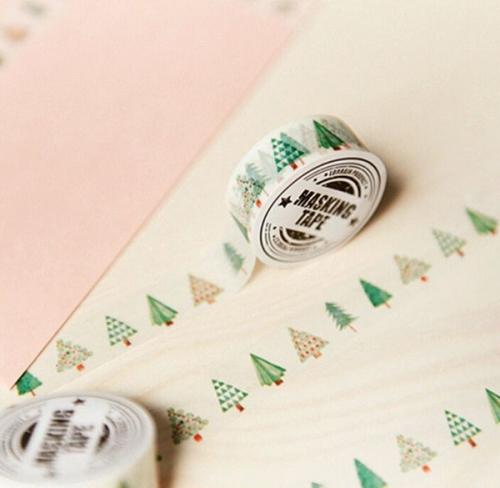 Christmas tree paper tape