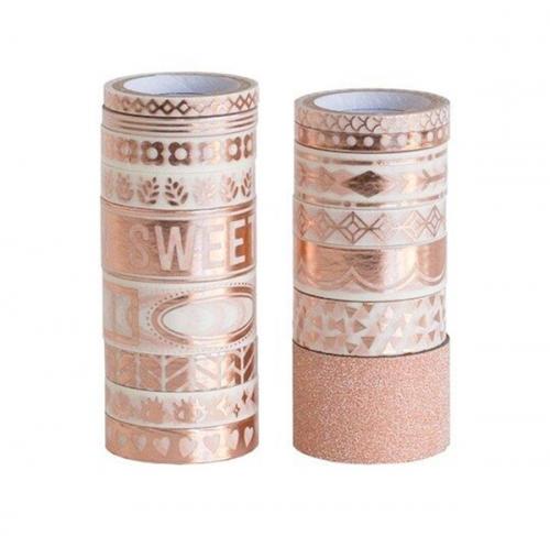 Pink gold foil tape